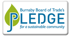 Burnaby Board of Trades Pledge Button